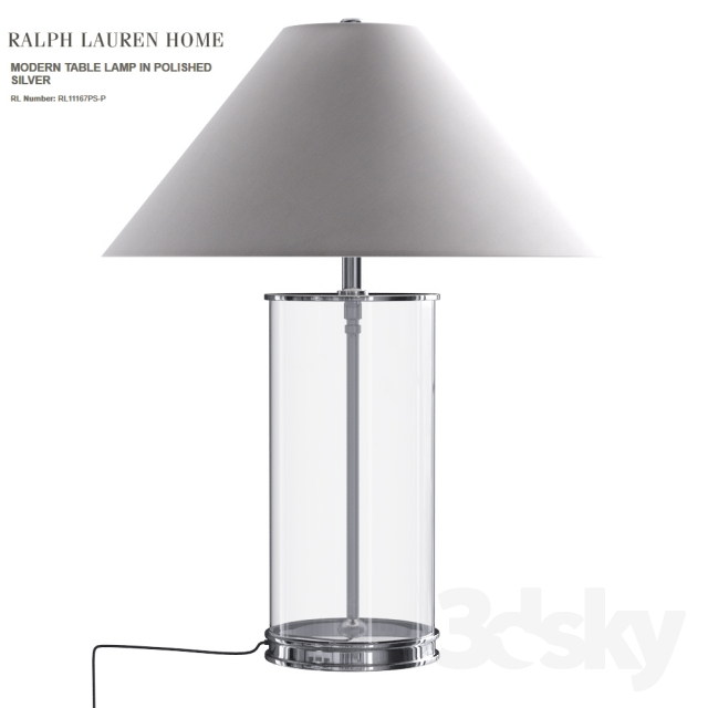 Ralph Lauren MODERN TABLE LAMP IN POLISHED SILVER