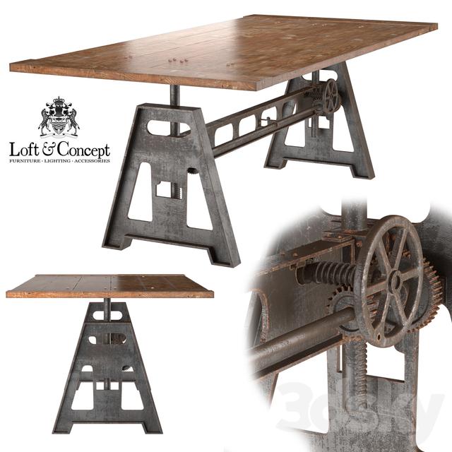 3d Models Table GARIBALDI Dining Industrial