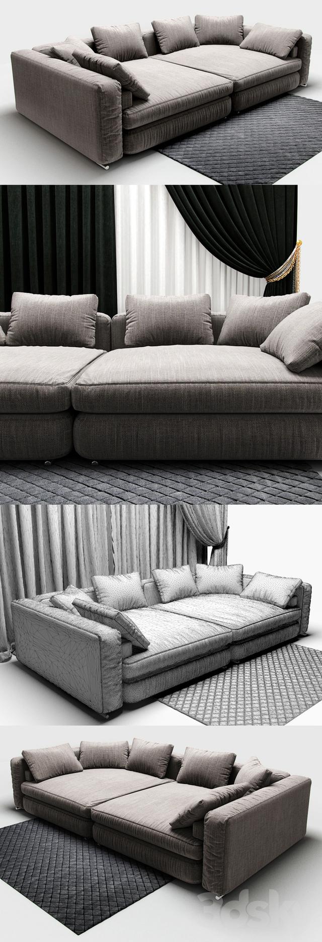 3d models sofa sofa minotti jagger. Black Bedroom Furniture Sets. Home Design Ideas