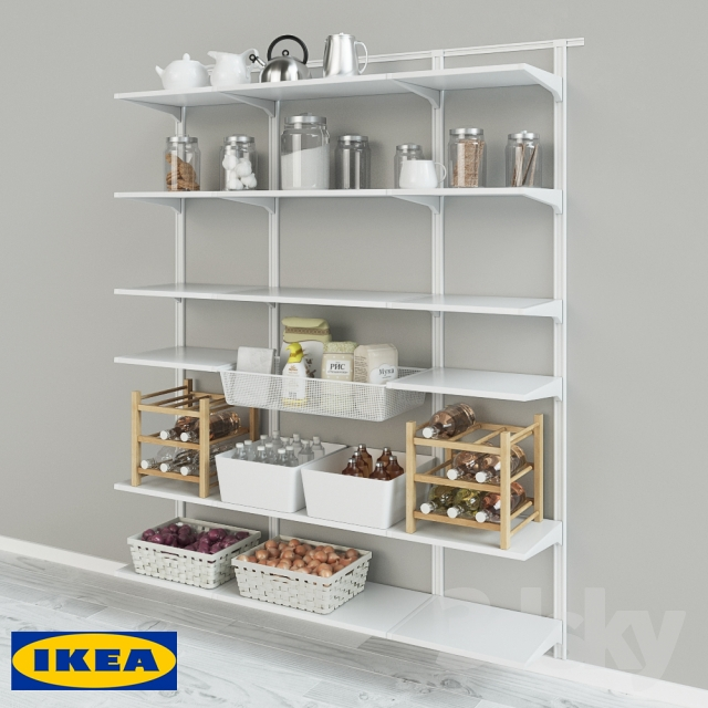 3d models: Other kitchen accessories - IKEA Wall tire Algot