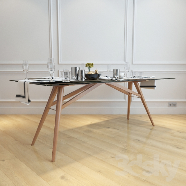 D Models Table West ElmJensen Dining Table - West elm jensen dining table