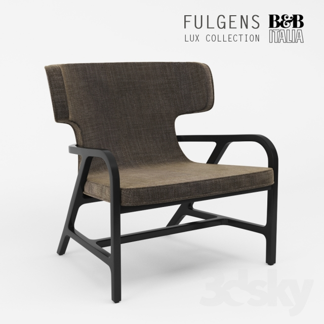 3d Models Arm Chair Maxalto Fulgens