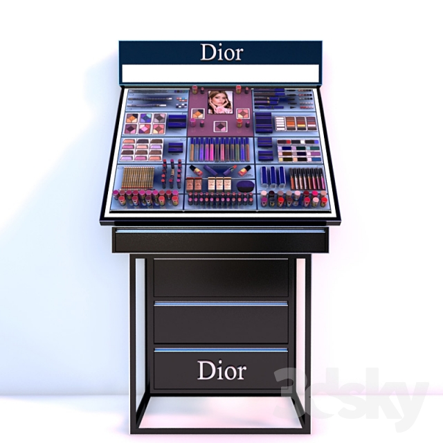 Souvent 3d models: Shop - Stand maquillage Dior NY02