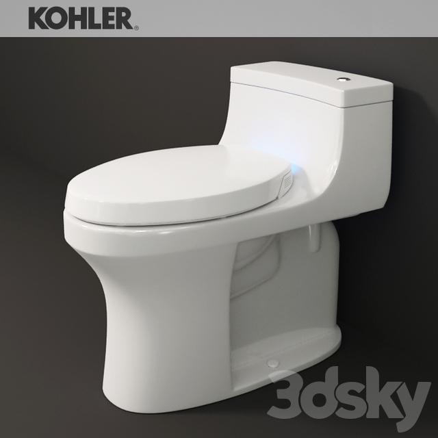 3d models toilet and bidet kohler san souci toilet - Toilet model ...