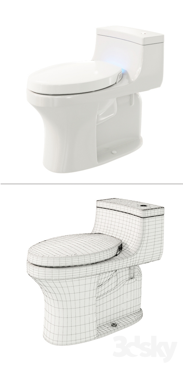 3d Models Toilet And Bidet Kohler Quot San Souci Quot Toilet