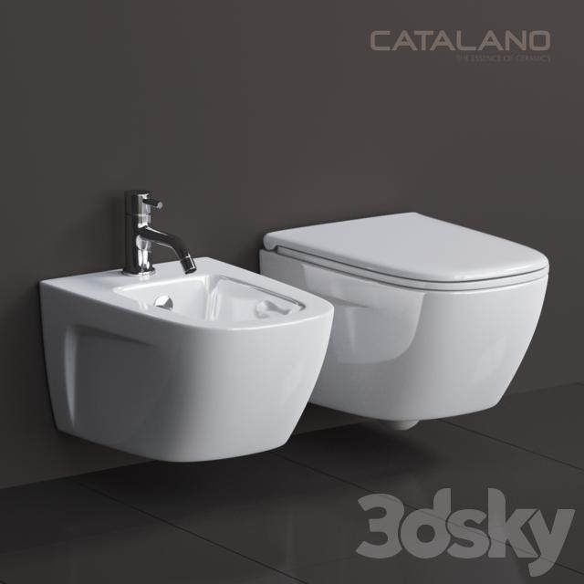 3d models toilet and bidet catalano new light - Toilet model ...