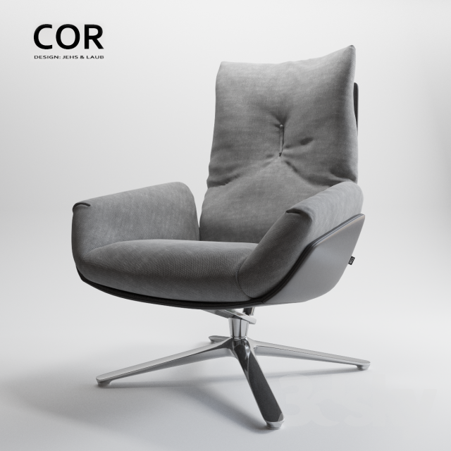 3d Models Arm Chair Cor Cordia Lounge