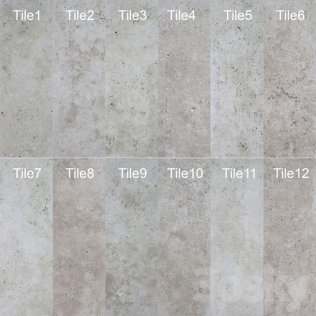 3d models: Stone - Travertine stone texture