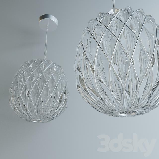 3d models ceiling light fontana arte pinecone suspension for Pinecone fontana
