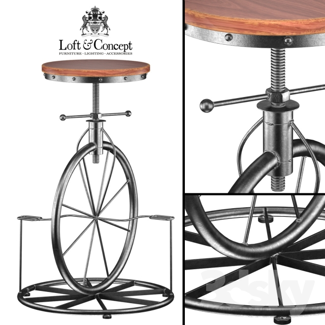 3d Models Chair Lovt Bar Stool Bicycle