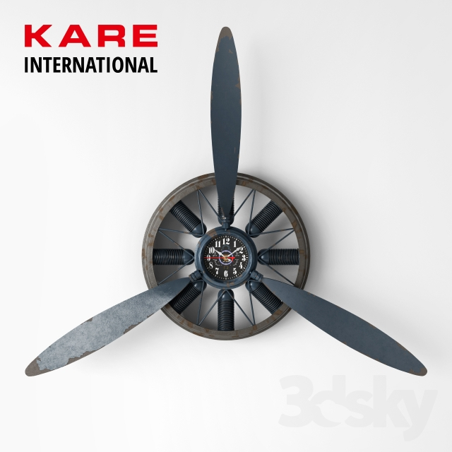 Propeller Wall Clock : D models other decorative objects wall clock propeller
