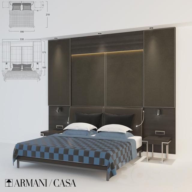 3d models bed armani casa hotel bed for Bed models images