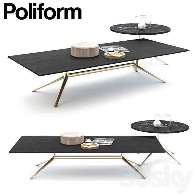 3d Models Table POLIFORM MONDRIAN COFFEE TABLE