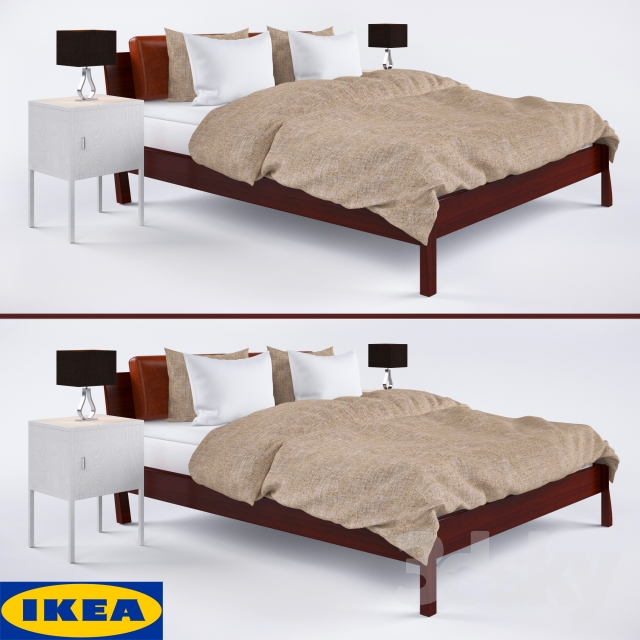 3d models bed ikea stockholm. Black Bedroom Furniture Sets. Home Design Ideas
