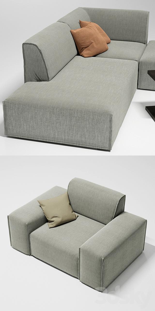 3d Models Sofa Sofas And Armchair Ditre Italia Monolith