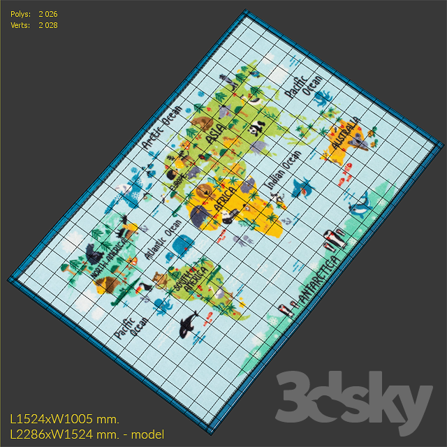 World Map Baby Rug: Carpet NuLoom Animal World Map Rug