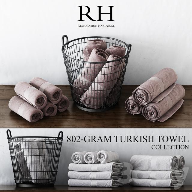 3d models bathroom accessories rh 802 gram turkish towel collection for Restoration hardware bathroom accessories