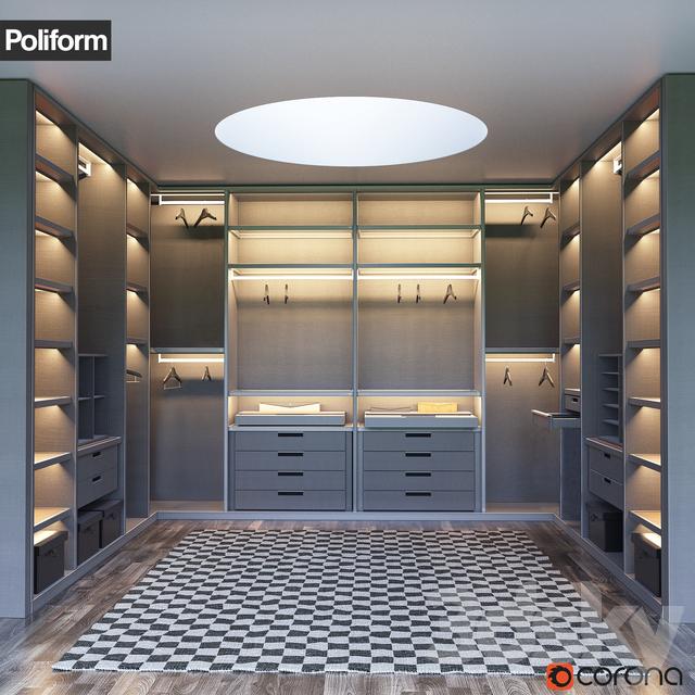SENZAFINE Walk In Closet From Poliform