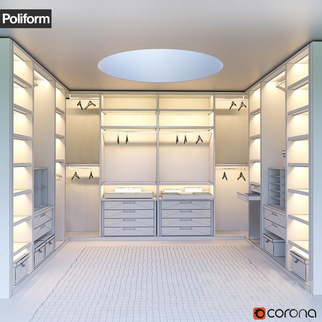 3d Models: Wardrobe U0026 Display Cabinets   SENZAFINE Walk In Closet From  Poliform