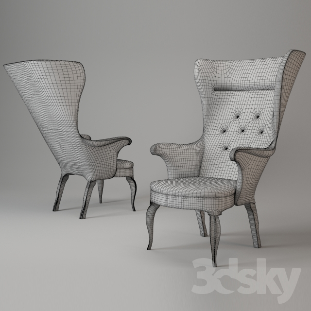 3d Models: Arm Chair   Frits Henningsen High Back Easy Chair, 1939