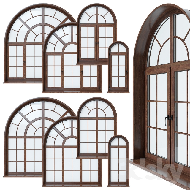 3d models windows arched window for How to decorate an arched window