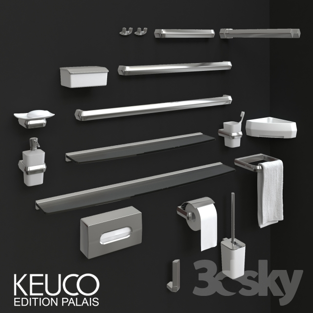 3d models bathroom accessories keuco accessoires edition palais. Black Bedroom Furniture Sets. Home Design Ideas