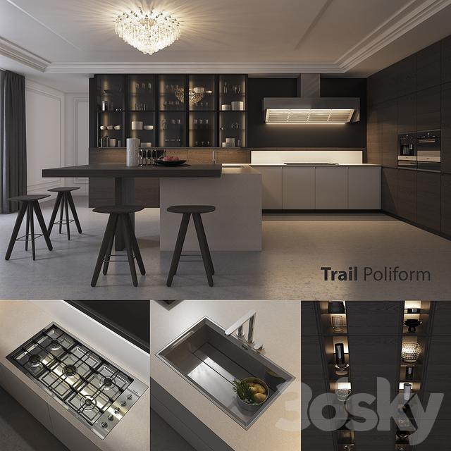 3d models kitchen kitchen poliform varenna trail vray for Poliform kuchen