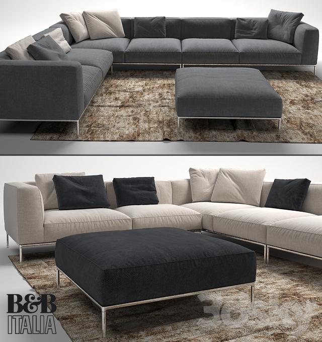 3d models sofa frank sofa by b b italia. Black Bedroom Furniture Sets. Home Design Ideas