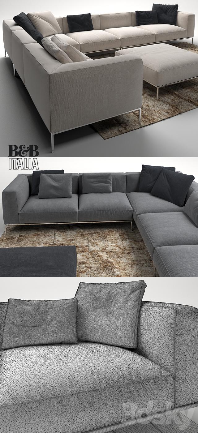 3d Models Sofa Frank Sofa By B B Italia