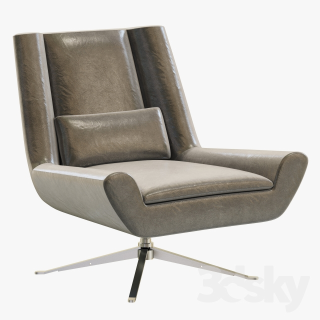 3d Models Arm Chair Rh Modern Luke Leather Chair