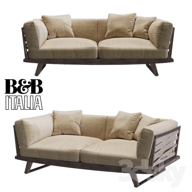 3d models sofa sofa b b italia gio. Black Bedroom Furniture Sets. Home Design Ideas