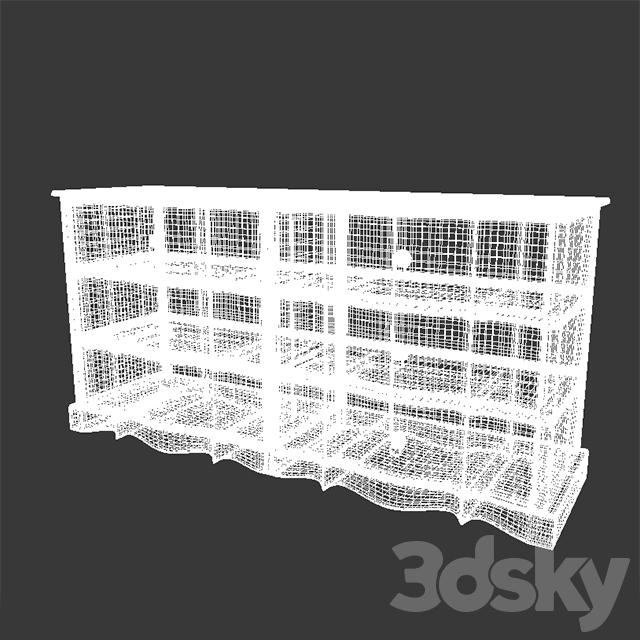 3d models sideboard chest of drawer maisons du monde medicis 139 014. Black Bedroom Furniture Sets. Home Design Ideas