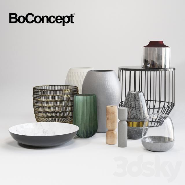 3d models vase boconcept decor set. Black Bedroom Furniture Sets. Home Design Ideas