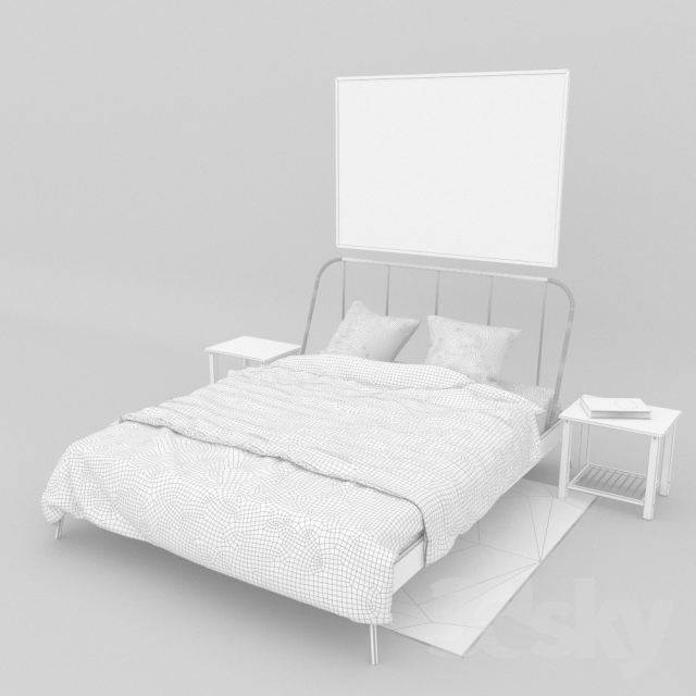 3d models bed ikea kopardal. Black Bedroom Furniture Sets. Home Design Ideas