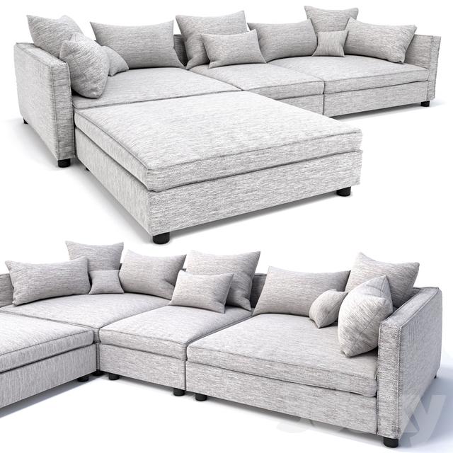 3d Models: Sofa   Bolia Mr.Big Sofa 3 Units And Pouf