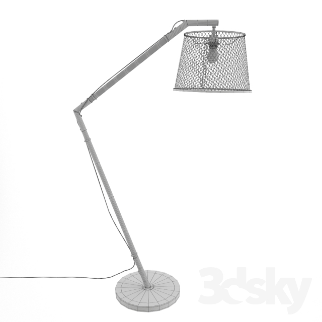3d Models Floor Lamp Floor Lamp Kare Design Net Flex