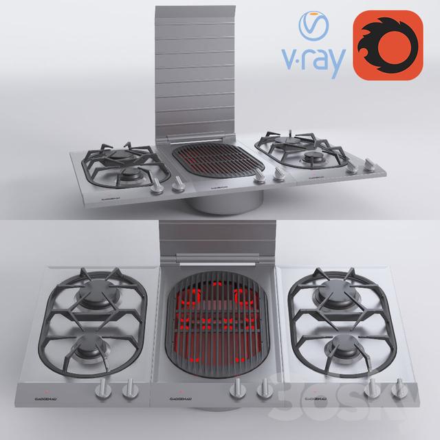 Mini Modern Kitchen Miele Gaggenau: 3d Models: Kitchen Appliance