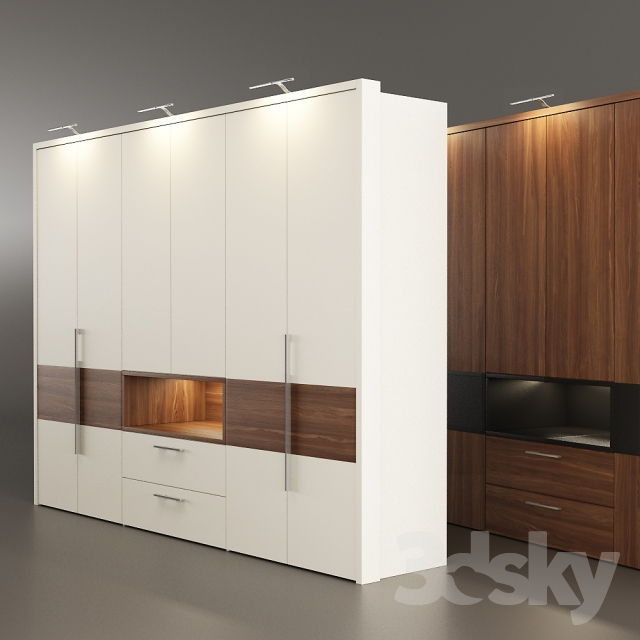 3d models wardrobe display cabinets wardrobe h lsta. Black Bedroom Furniture Sets. Home Design Ideas