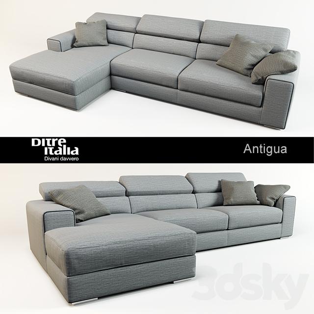 3d models: Sofa - Sofa Antigua / Ditre Italia