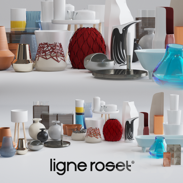 3d models vase ligne roset decor set ForLigne Decor