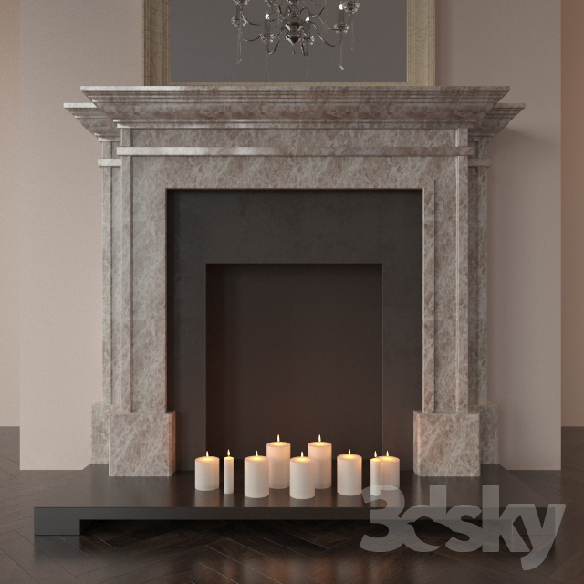 3d models fireplace fireplace english classic. Black Bedroom Furniture Sets. Home Design Ideas