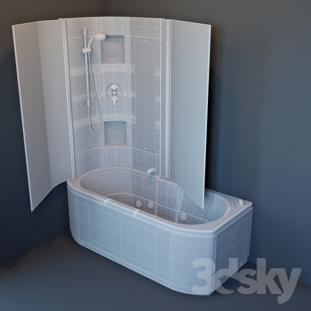 3d Models Bathtub Bath Hafro Duo Box