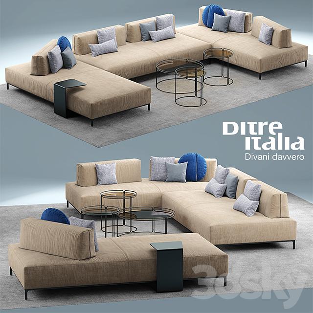 3d Models Sofa Sofa Ditre Italia Sanders