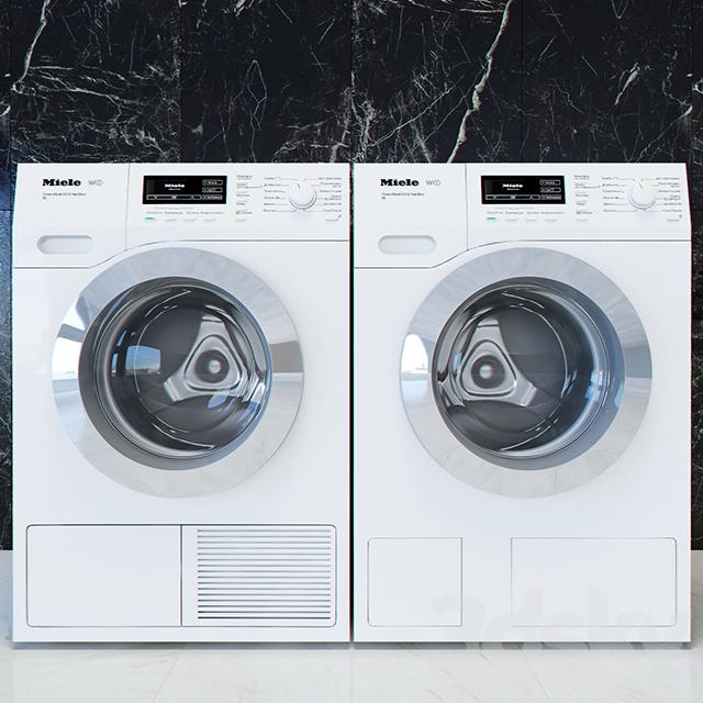 3d models household appliance miele t1 w1 washing. Black Bedroom Furniture Sets. Home Design Ideas
