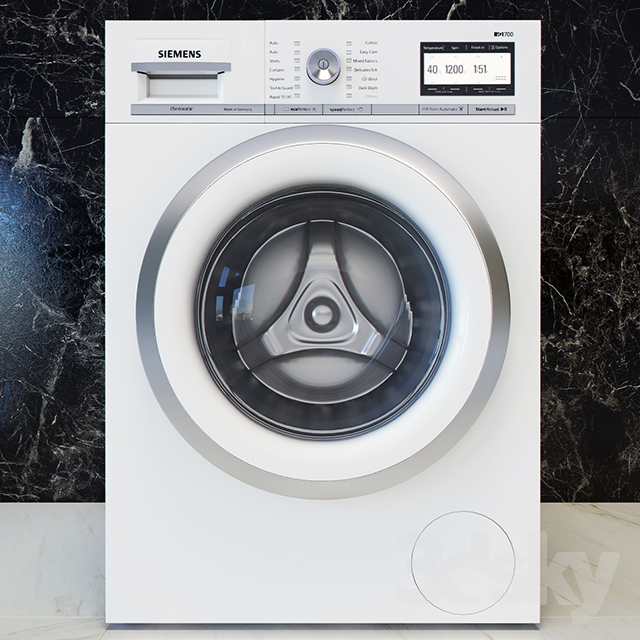 3d Models Household Appliance Siemens Iq 700 Washing Machine