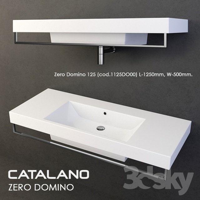 3d models wash basin sink catalano zero domino set. Black Bedroom Furniture Sets. Home Design Ideas