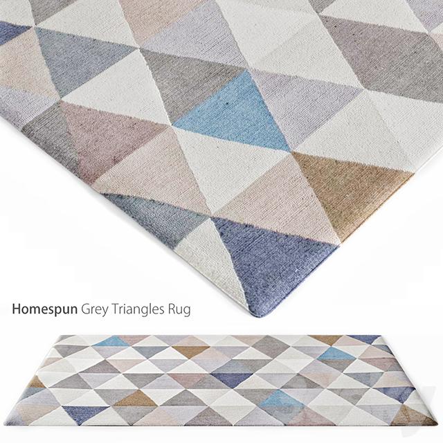 3d Models Carpets Homespun Grey Triangles Rug