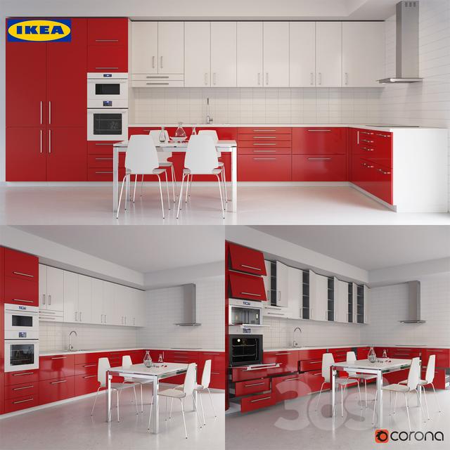 3d models kitchen ikea kitchen part 002. Black Bedroom Furniture Sets. Home Design Ideas