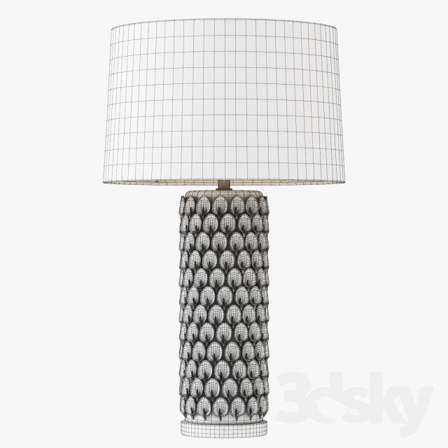 3d Models Table Lamp Calla Lily Table Lamp