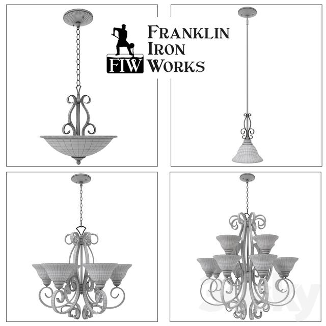 3d models ceiling light franklin iron works manchester and san. Black Bedroom Furniture Sets. Home Design Ideas